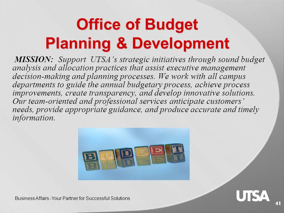 Mary Simon, C.P.A. Senior Director Budget Planning & Development 40