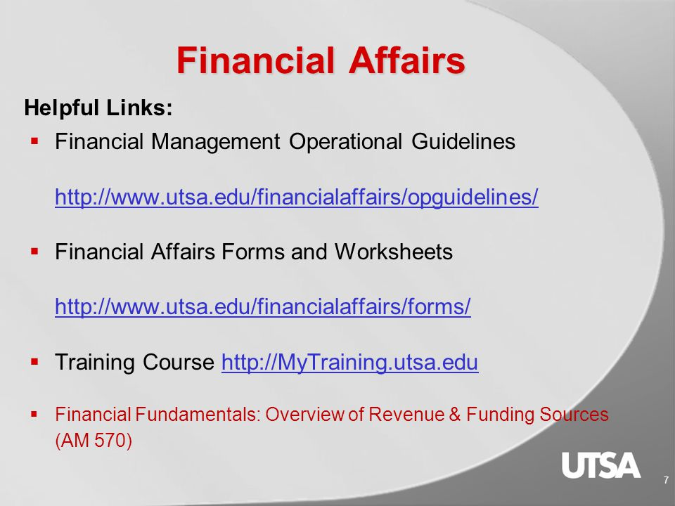 Fiscal Services  Tuition & fee payments http://www.utsa.edu/fiscalservices/tuition.htm  Exemptions http://www.utsa.edu/infoguide/ch3.html#etfc  Student Refunds http://www.utsa.edu/fiscalservices/refunds.html  Adding money to UTSA Card  Application for admissions  Foreign health insurance  Library and parking fine payments  Parking permit payments 57 Services Provided to Students: