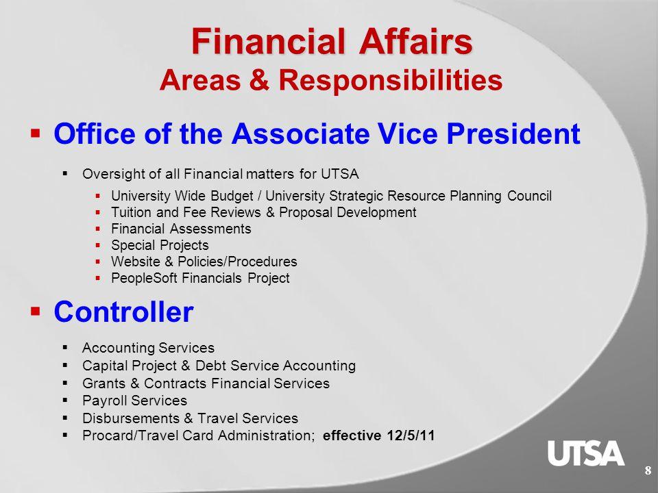 Financial Affairs  Financial Management Operational Guidelines http://www.utsa.edu/financialaffairs/opguidelines/  Financial Affairs Forms and Worksheets http://www.utsa.edu/financialaffairs/forms/  Training Course http://MyTraining.utsa.eduhttp://MyTraining.utsa.edu  Financial Fundamentals: Overview of Revenue & Funding Sources (AM 570) 7 Helpful Links:
