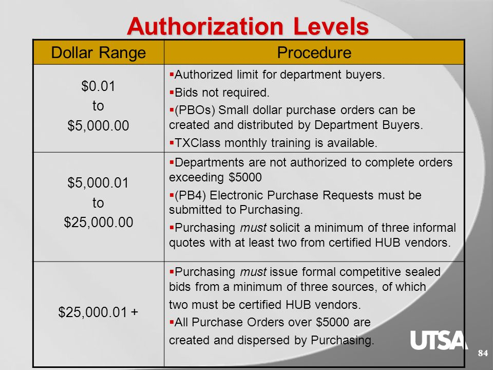 83 What We Do: The Purchasing and Distribution Services Department provides services to the University.