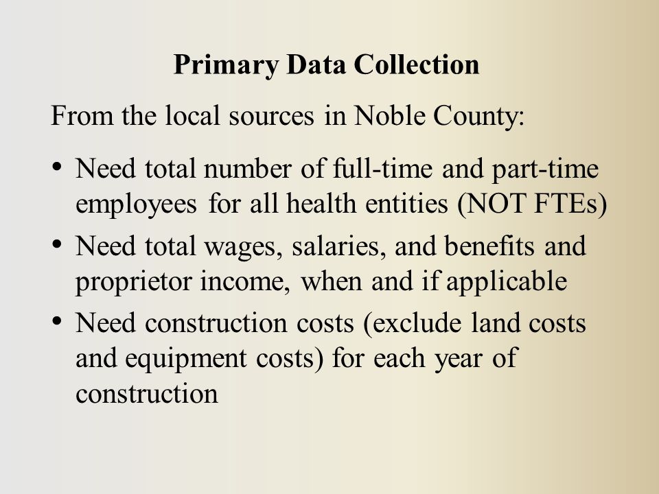 Data Needed to Edit an Industry Need: Employment EE Compensation Have: Employment: 88 EE Compensation: $3,624,176 Go back to the Noble County Model, under Customize'.