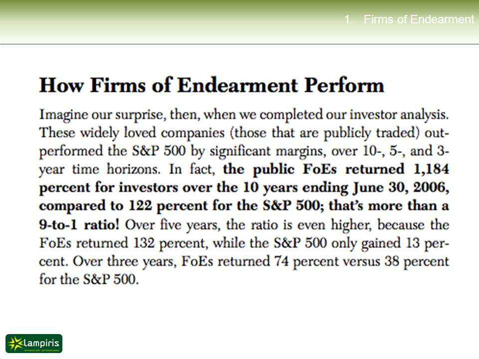 1. Firms of Endearment