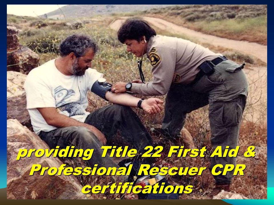 providing Title 22 First Aid & Professional Rescuer CPR certifications