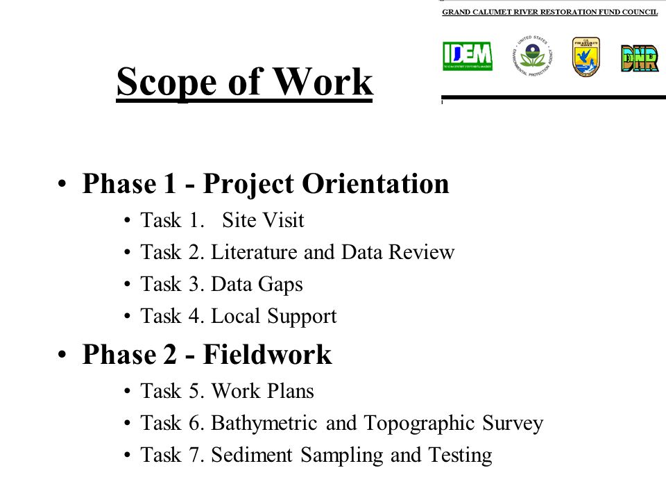 Scope of Work Phase 1 - Project Orientation Task 1.