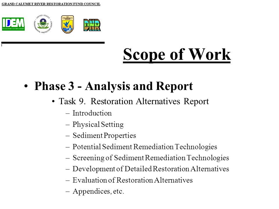 Scope of Work Phase 3 - Analysis and Report Task 9.