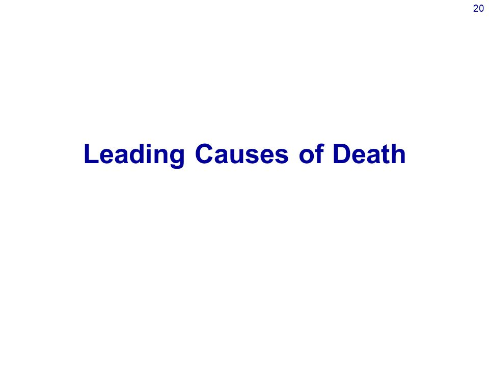 20 Leading Causes of Death