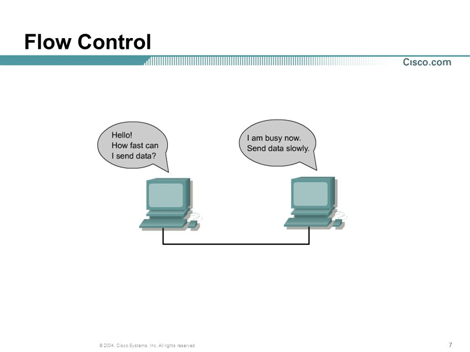 777 © 2004, Cisco Systems, Inc. All rights reserved. Flow Control