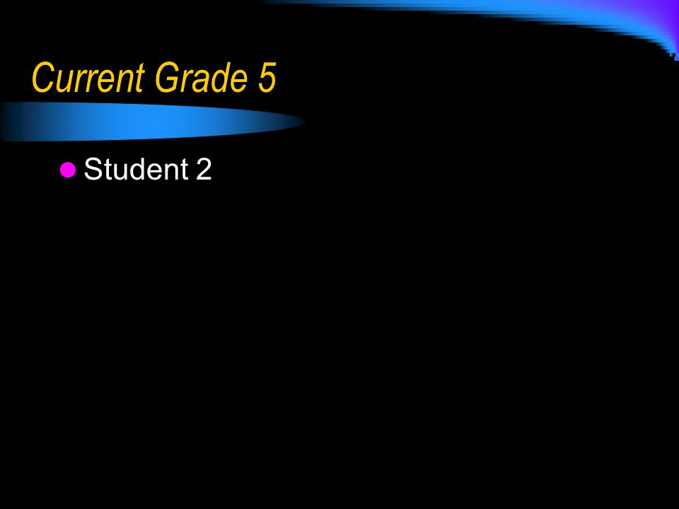 Current Grade 5 Student 2