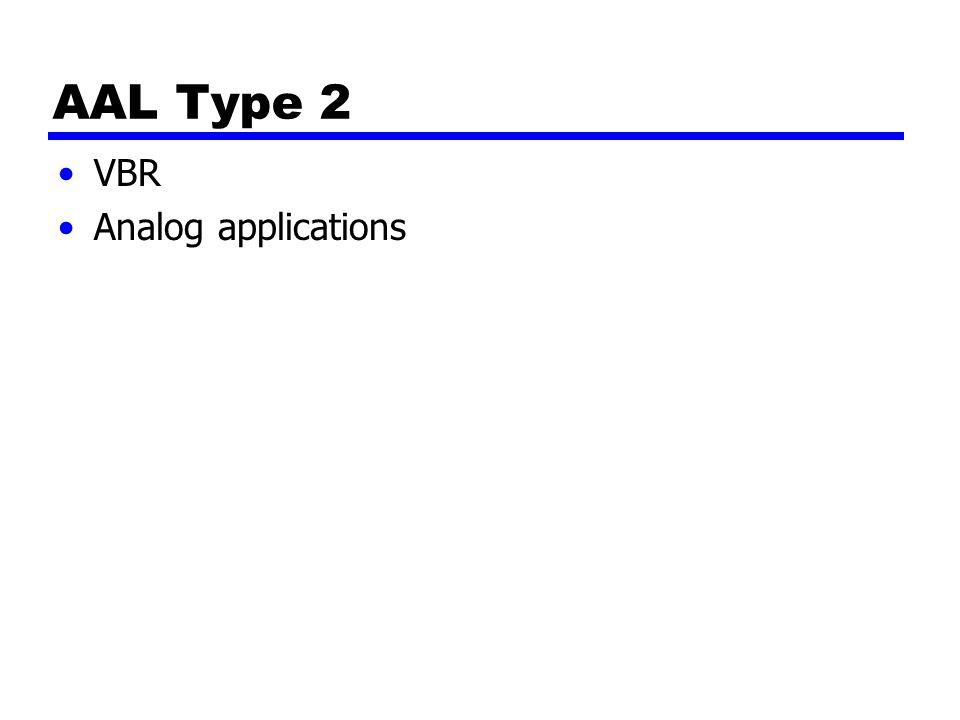 AAL Type 2 VBR Analog applications