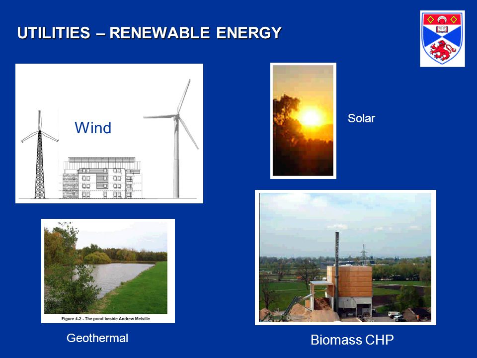 UTILITIES – RENEWABLE ENERGY Biomass CHP Geothermal Wind Solar