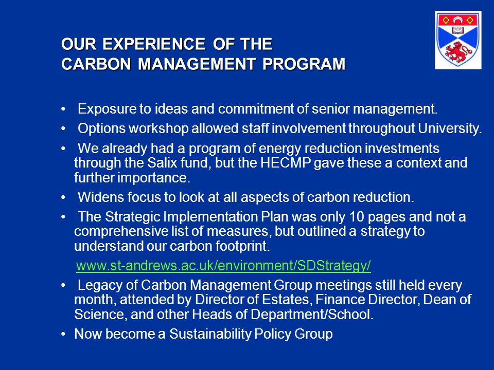 OUR CARBON FOOTPRINT  CO2 SourceTonnes CO2 energy16,850 waste649 water use78 staff business mileage5,000 fuel use87 procurement10,000 Total32,664