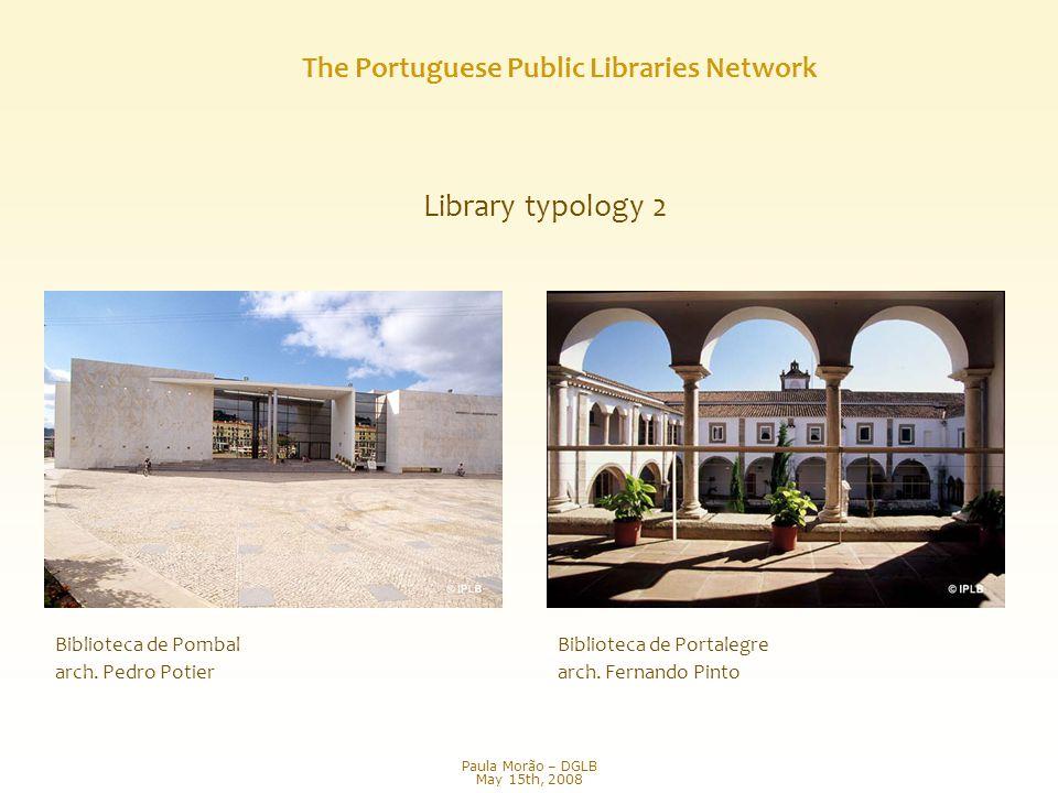 Library typology 2 Biblioteca de Portalegre arch. Fernando Pinto Biblioteca de Pombal arch.