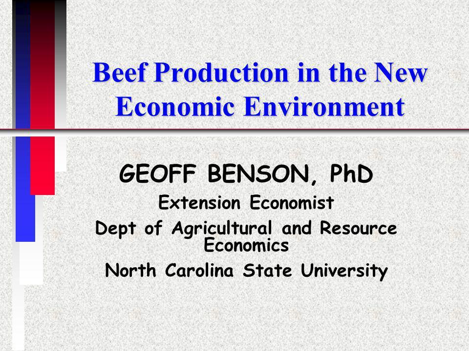 GEOFF BENSON, ARE, NCSU22 Graded Sales, M1 Heifers v. Steers, 1990-2001