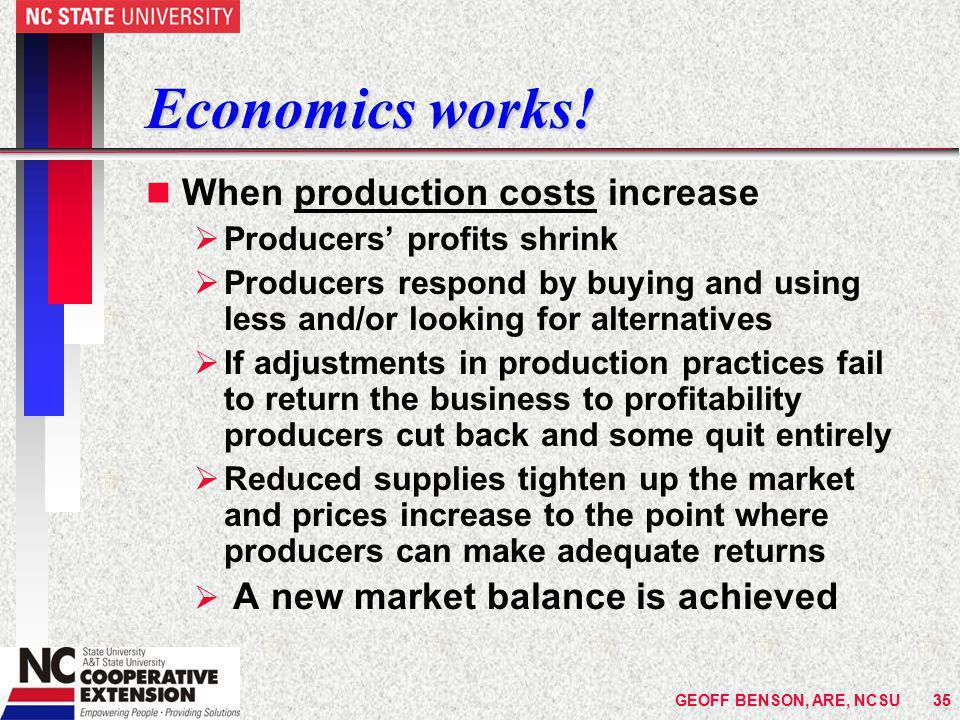 Economics works.