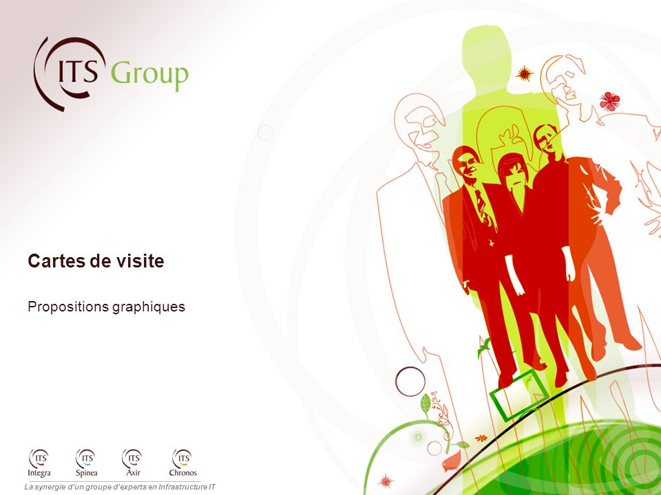 La synergie d'un groupe d'experts en Infrastructure IT Cartes de visite Propositions graphiques