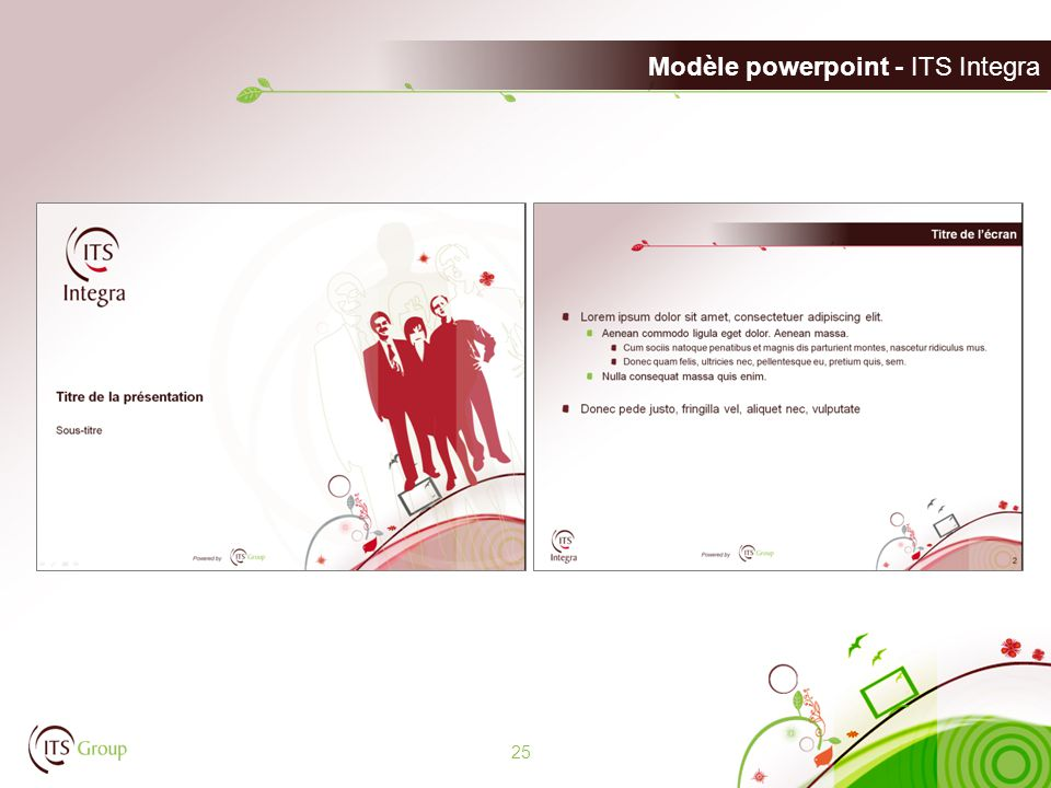 Modèle powerpoint - ITS Integra 25