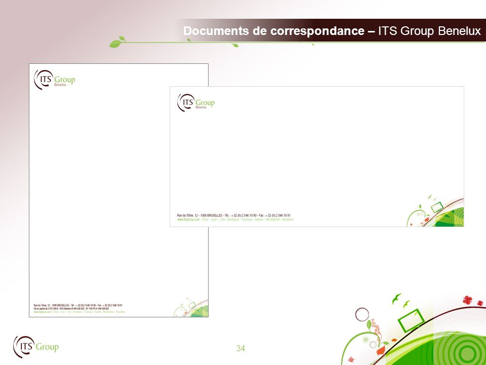 Documents de correspondance – ITS Group Benelux 34