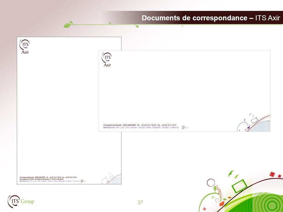 Documents de correspondance – ITS Axir 37