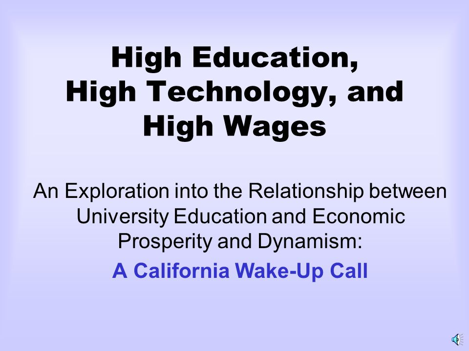 196019651970197519801985199019952000 1.00 1.10 1.20 1.30 1.40 California with US=1 Index of Highly-Educated Workers College Degrees