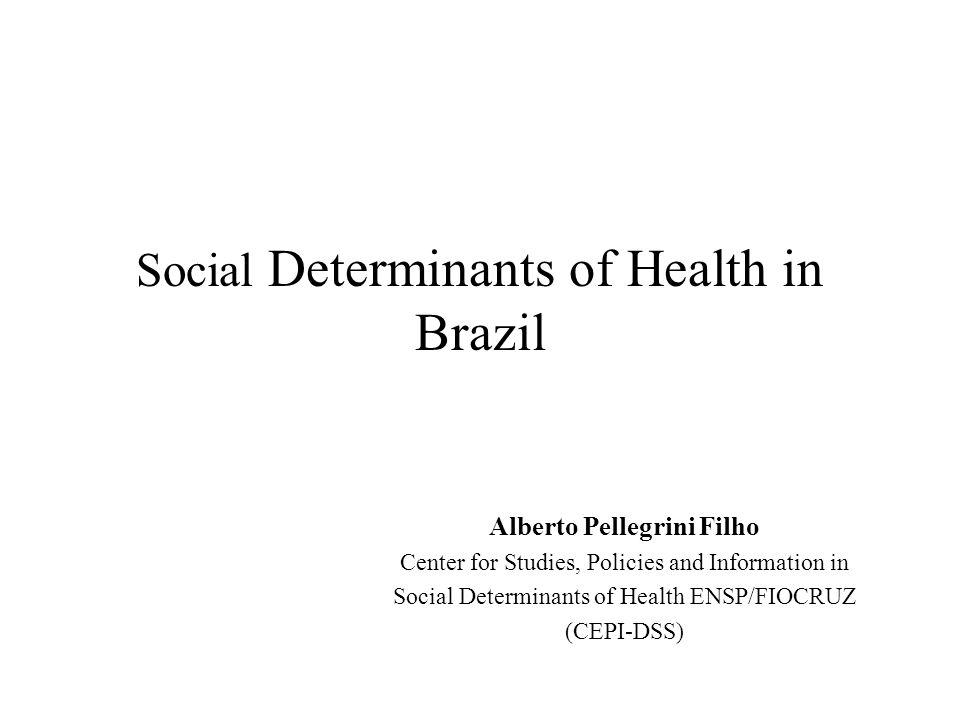 Social Determinants of Health in Brazil Alberto Pellegrini Filho Center for Studies, Policies and Information in Social Determinants of Health ENSP/FI