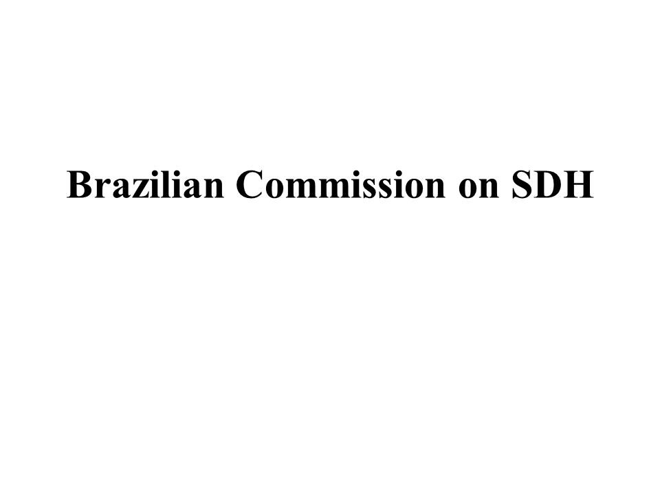 Brazilian Commission on SDH