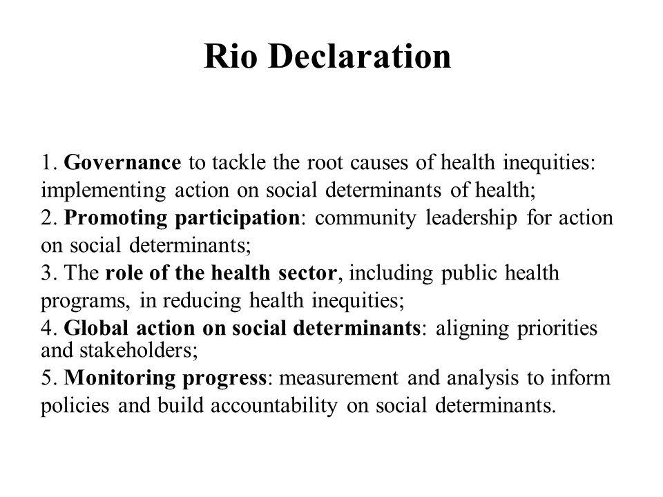 Rio Declaration 1.