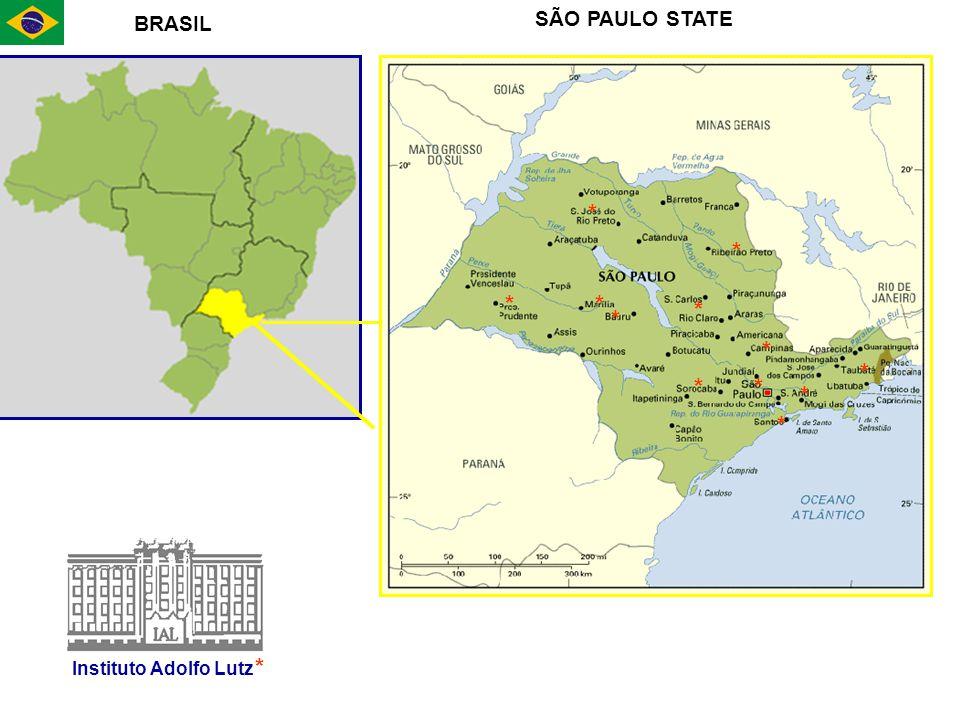 * * * * * * * * * * * BRASIL SÃO PAULO STATE Instituto Adolfo Lutz * *