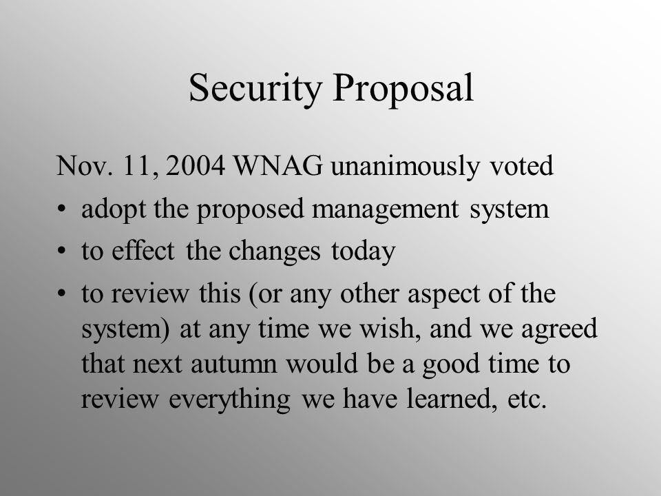 Security Proposal Nov.