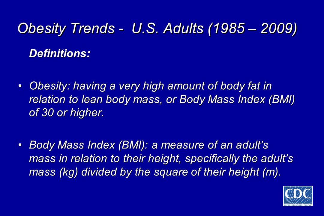 Obesity Trends - U.S.