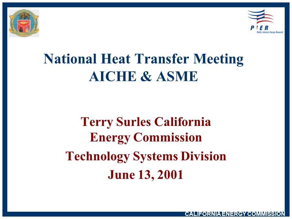 CALIFORNIA ENERGY COMMISSION 2000 Net Power System Eligible Renewables Biomass & Waste- 2.3 Geothermal - 4.6 Small Hydro - 3.0 Solar - 0.4 Wind - 1.5