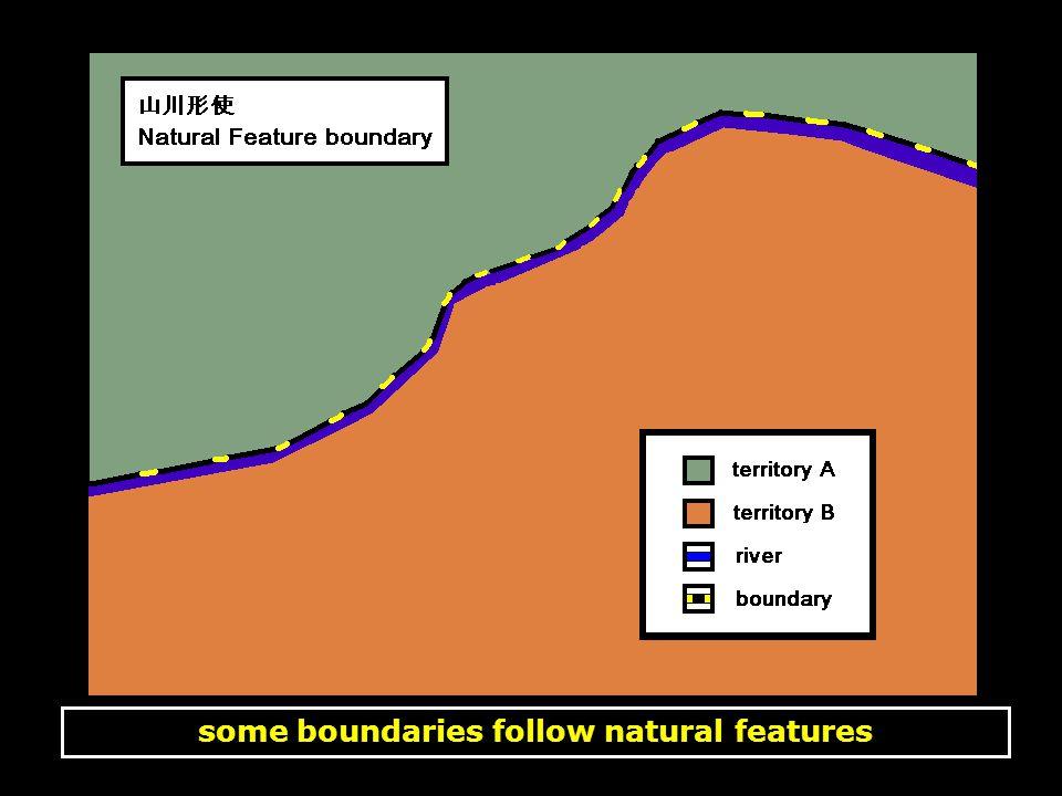 some boundaries do not follow natural features