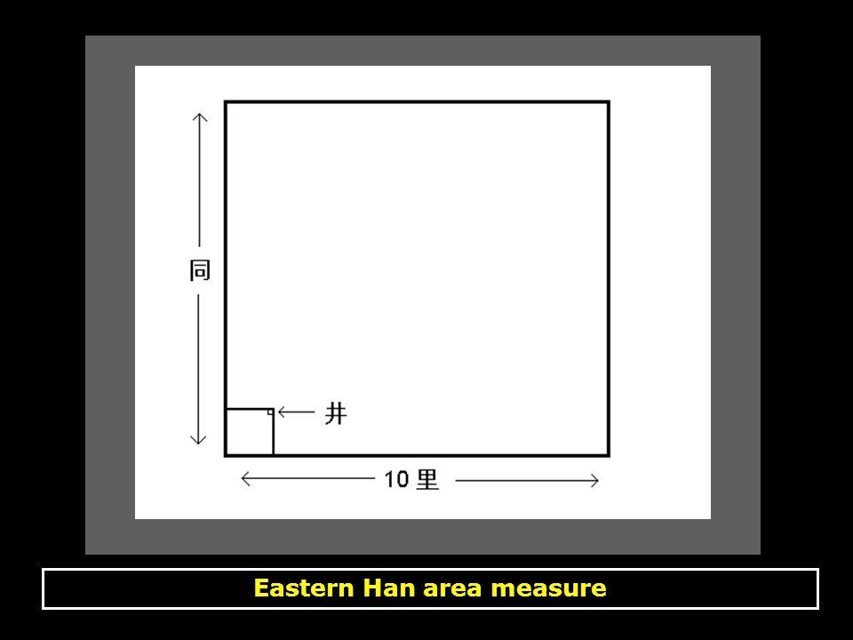 Eastern Han area measure, calculations