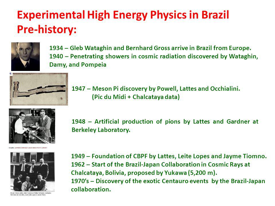 1949 – Foundation of CBPF by Lattes, Leite Lopes and Jayme Tiomno.