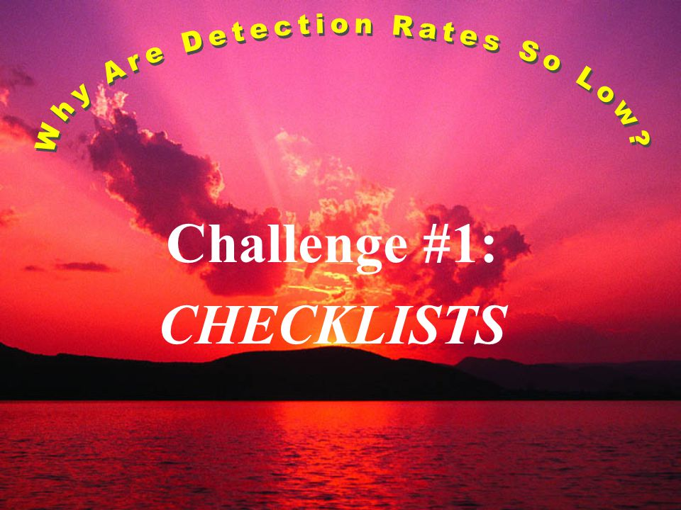 Challenge #1: CHECKLISTS