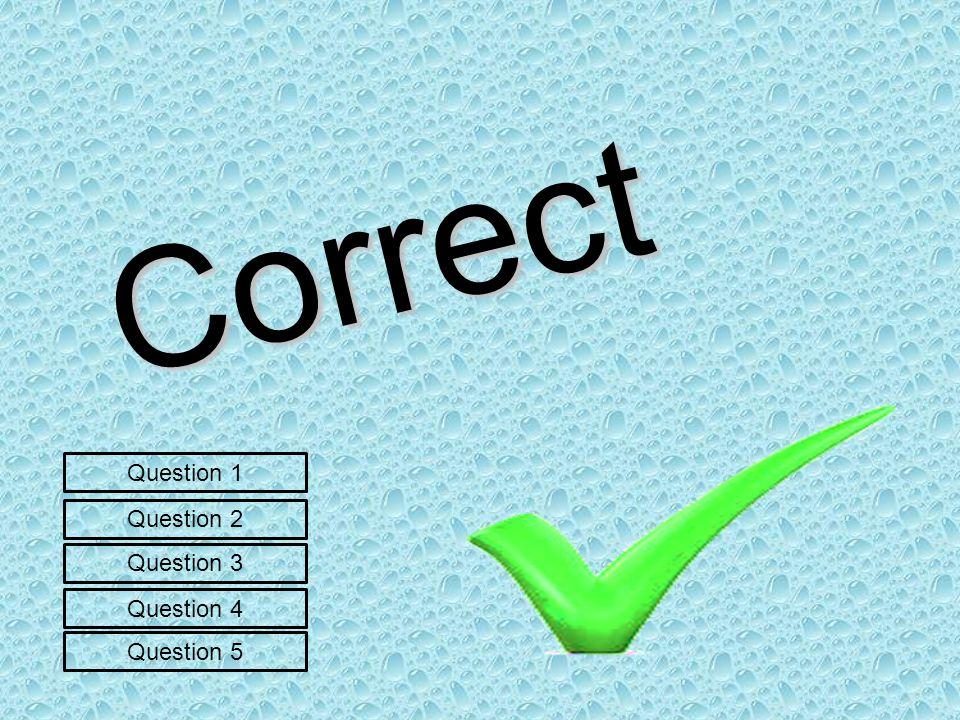Correct Question 1 Question 3 Question 2 Question 5 Question 4