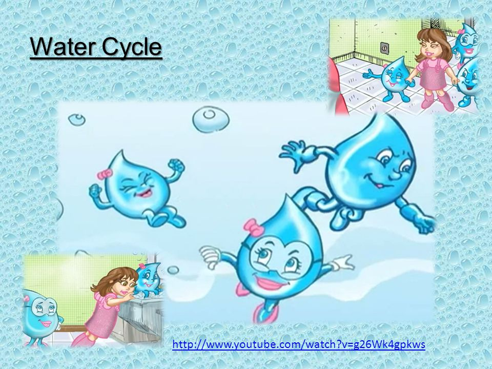 Water Cycle http://www.youtube.com/watch?v=g26Wk4gpkws