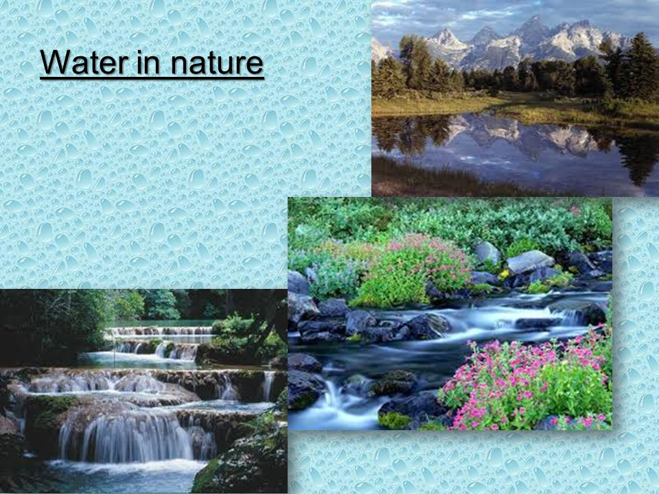 Water in nature