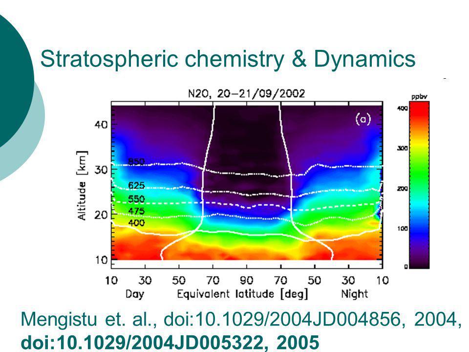 Stratospheric chemistry & Dynamics Mengistu et.