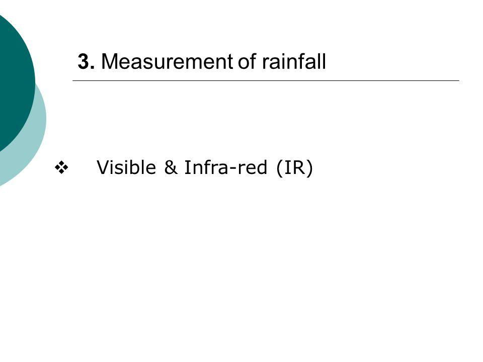 3. Measurement of rainfall  Visible & Infra-red (IR)