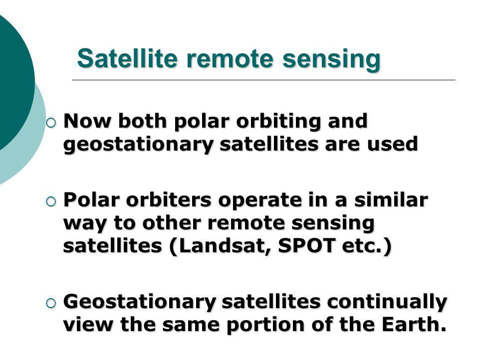 5. Satellite image/signal  Satellite image/signal interpretation
