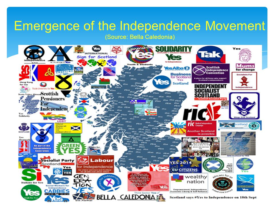 Emergence of the Independence Movement (Source: Bella Caledonia)