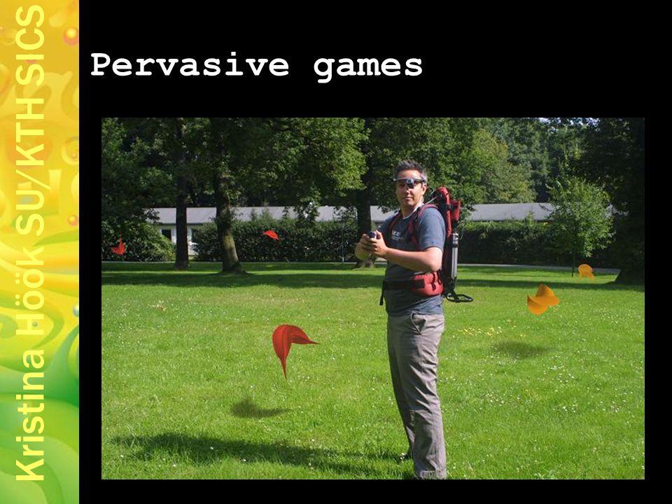 Kristina Höök SU/KTH SICS Pervasive games
