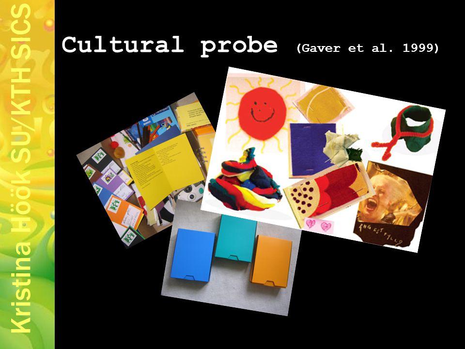 Kristina Höök SU/KTH SICS Cultural probe (Gaver et al. 1999)