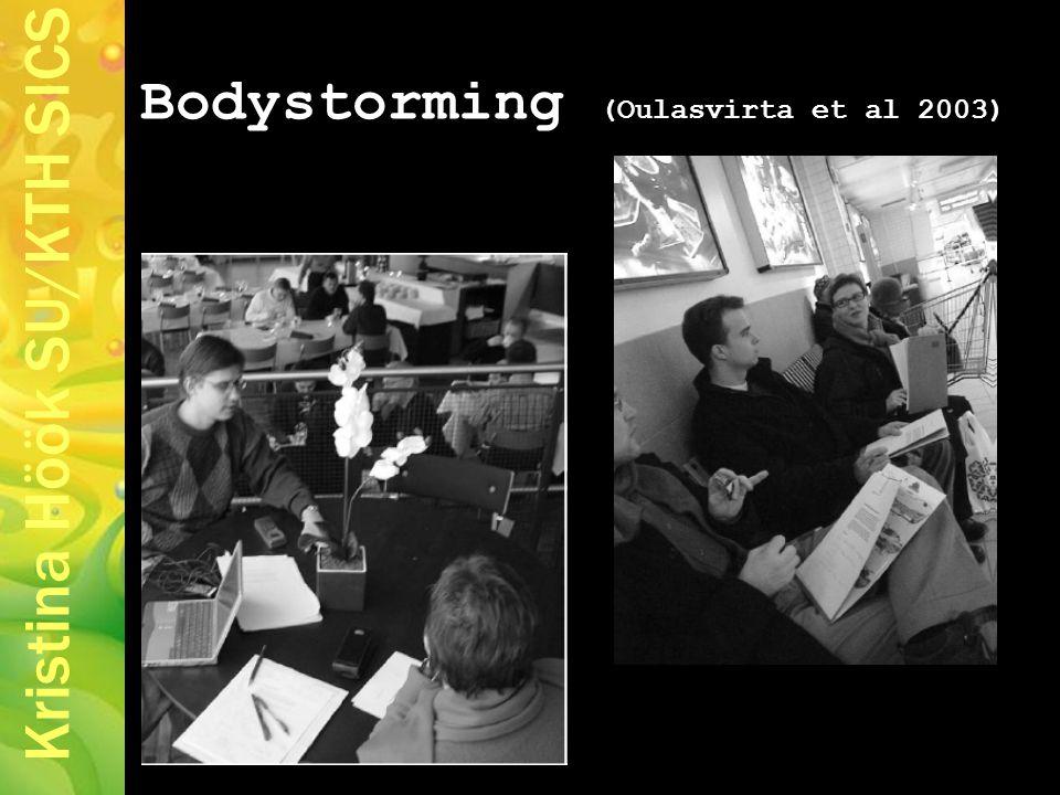 Kristina Höök SU/KTH SICS Bodystorming (Oulasvirta et al 2003)