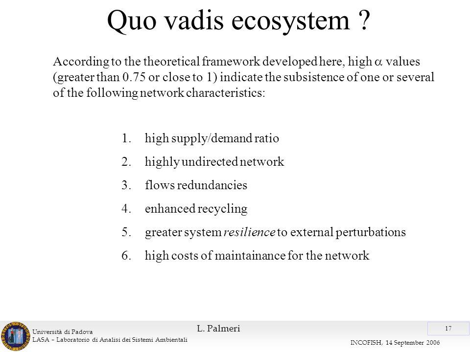 Università di Padova LASA – Laboratorio di Analisi dei Sistemi Ambientali 17 INCOFISH, 14 September 2006 L.