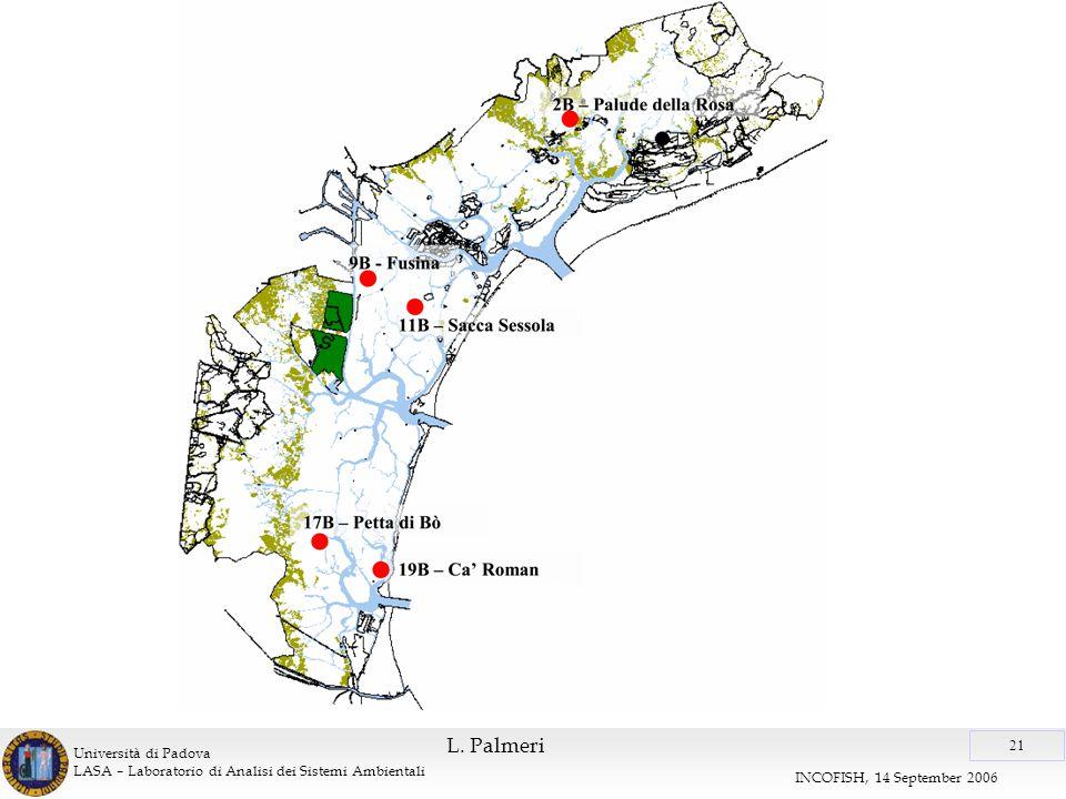 Università di Padova LASA – Laboratorio di Analisi dei Sistemi Ambientali 21 INCOFISH, 14 September 2006 L.