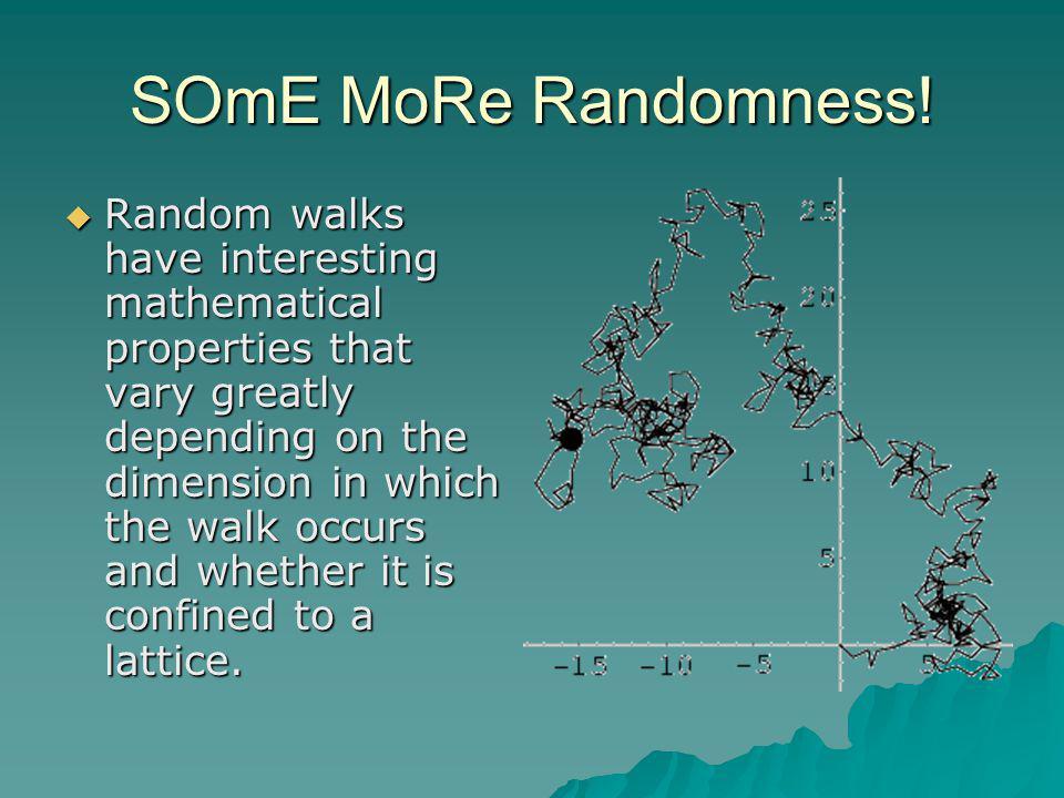 SOmE MoRe Randomness.