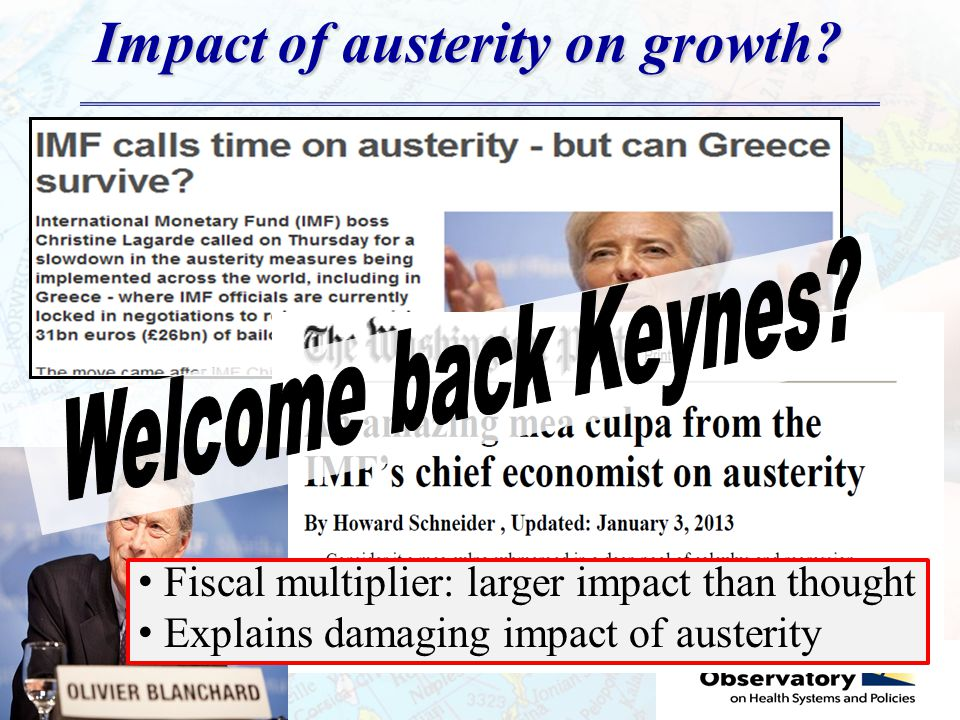 Impact of austerity on growth.