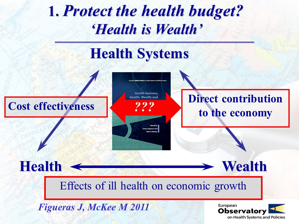 WealthHealth Health Systems 1. Protect the health budget.