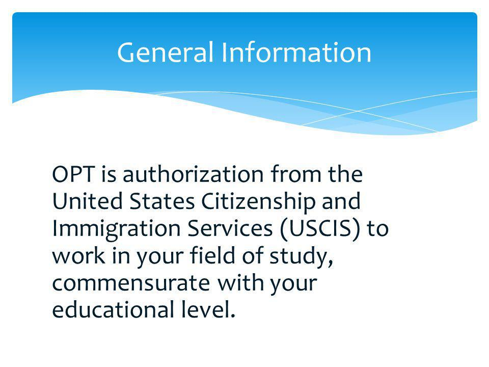 After the completion of your program, the following documents are required for re-entry in F-1 status: An unexpired passport valid for 6 months into the future (some exceptions) A valid, unexpired F-1 entry visa (except Canadians) An I-20 that has been recertified in the last 6 months Proof of your OPT Receipt notice (pending OPT application) EAD and a letter from an employer (once OPT approved) Travel Abroad and OPT